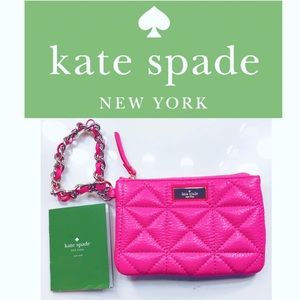 NWT Kate Spade Chain Strap Quilted Wristlet